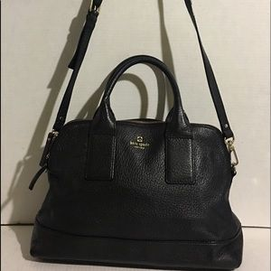 Kate Spade Black leather crossbody handbag